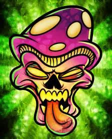 Trippy Mushroom Drawings