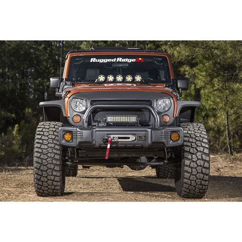 rugged ridge  spartacus stubby bumper black