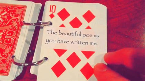 52 Things I Love About You Deck Of Cards Template