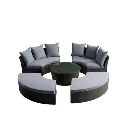 salon de jardin rilasa rond modulable 2 canap achat vente salon de jardin