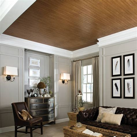unappealing ceiling cover    wood  planks