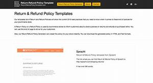 return refund policy templates and generator With returns policy template