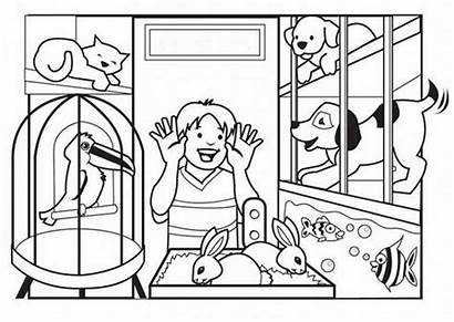 Coloring Pet Looking Pages Sheets Coloringsky Animals