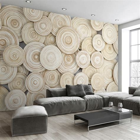 large custom mural wallpaper modern design  wood texture