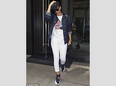 Rihanna goes AllAmerican for the afternoon in a red