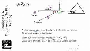 Bearings  Use Trigonometry To Find Bearing  Grade 5
