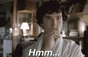 Thinking GIF - SherlockHolmes BenedictCumberbatch Hmm ...