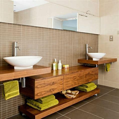Badezimmer Unterschrank Mit Holzplatte by Waschtisch Aus Holz F 252 R Mehr Gem 252 Tlichkeit Im Bad