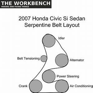Serpentine Belt Replacement  U2013 2007 Honda Civic Si  U2013 The Workbench