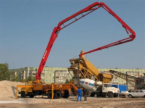 truck mounted concrete pump   rexroth  harvey