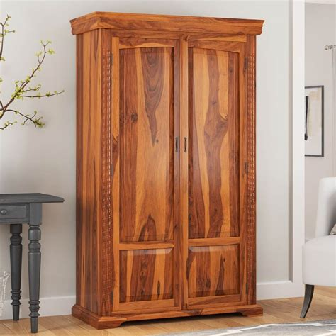 Wardrobe Cabinet by Empire Traditional Solid Hardwood Rustic Bedroom Armoire