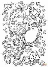 Coloring Mirror Pages Gemstones Vanity Printable Supercoloring Jewelry sketch template