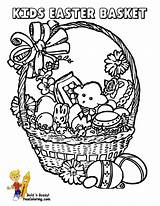 Easter Coloring Basket Pages Egg Baskets Colouring Boys Handsome Printable Yescoloring Library Popular sketch template