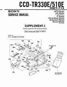 Sony Ccd-tr330e  Ccd-tr510e Service Manual