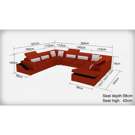 dessus de canapé d angle canapé d 39 angle panoramique en cuir jazz 8 places avec