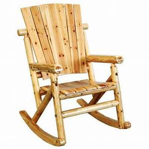 Rocking chairs patio chairs the home depot for Fauteuil rocking chair design