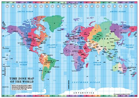 world of color times simplified world time zones map cosmographics ltd