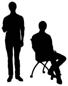 Sitting People Silhouette Clip Art