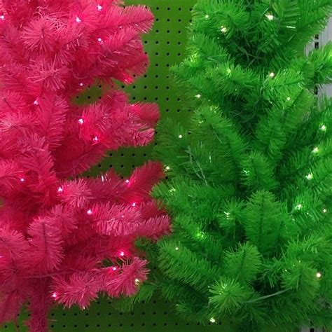 pink and green christmas trees pink and green pinterest
