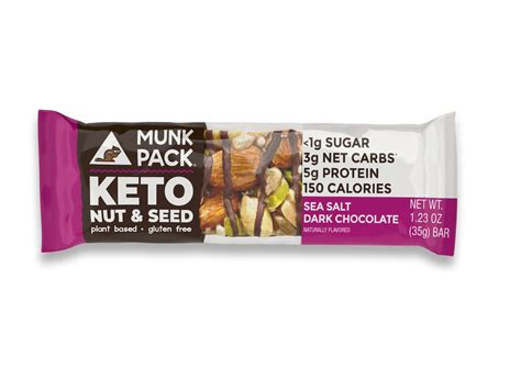 sea salt dark chocolate keto nut seed bar munk pack