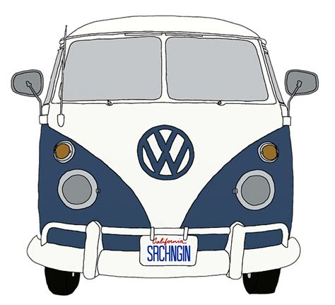 volkswagen hippie van front vw bus front end blue priscilla wolfe transparent png 600
