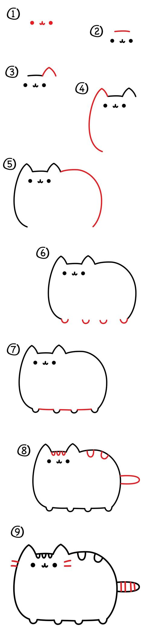 draw  pusheen cat art  kids hub pusheen
