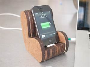 Wooden Comfy Chair iPhone Dock