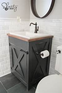 DIY Farmhouse Bathroom Vanity - Shanty 2 Chic