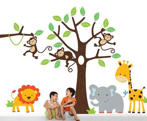 chambre bébé winnie children 39 s jungle wall sticker set by parkins interiors