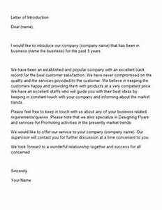 business introduction letter template … | Business ...