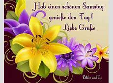Hab einen schönen Samstag Genieße den Tag! Liebe Grüße