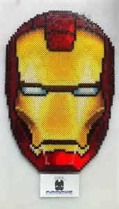 Iron Man Perler Beads