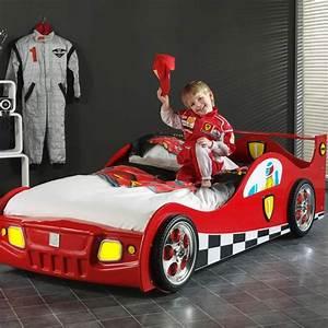 Lit Enfant Voiture : lit enfant voiture monza rouge ~ Preciouscoupons.com Idées de Décoration