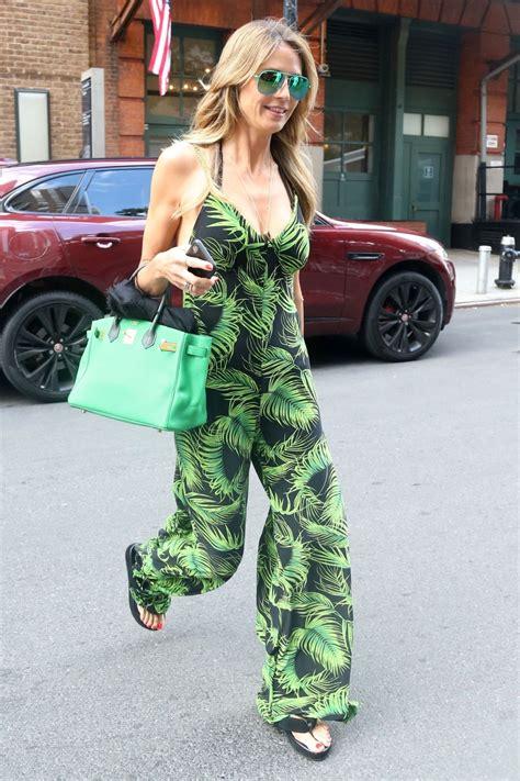 Heidi Klum Leaves Office Building New York City