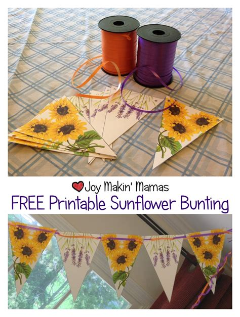 free printable sunflower bunting party decoration gt joy
