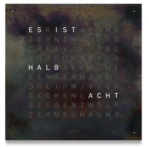 Zeit In Worten by Qlocktwo Hautecuisine Ch