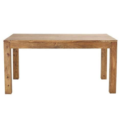 table de salle 224 manger en bois de sheesham massif l 160 cm stockholm maisons du monde