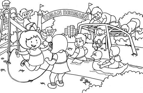 Download gambar gambar untuk mewarnai bagi anak paud gambar. TERBARU 10 GAMBAR MEWARNAI PEMANDANGAN DENGAN OBJEK LUCU: GAMBAR MEWARNAI ANAK BERMAIN DI TAMAN
