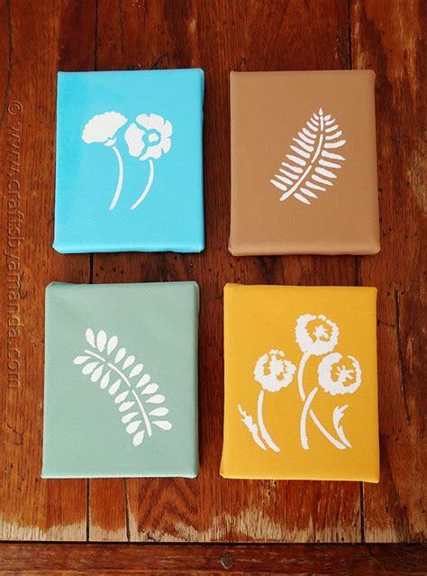stenciled botanicals  canvas crafts  amanda