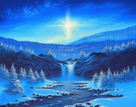 shining waterfall  winter winter nature background