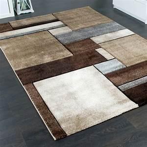 Teppich Grau Beige : designer teppich kariert modern trendig meliert eyecatcher in beige braun grau alle teppiche ~ Indierocktalk.com Haus und Dekorationen