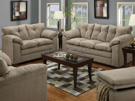 Luna Mineral Microfiber Sofa And Loveseat Set 6565