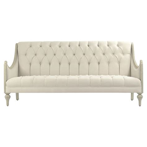 livia french country tufted linen grey wash cream cotton