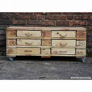 Euro Paletten : sideboard aus recycelten europaletten mit 6 schubladen greenpicks ~ Orissabook.com Haus und Dekorationen