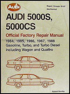 1984 1985 audi 5000s bentley repair shop manual 1984 1985 audi 5000s bentley repair shop manual original