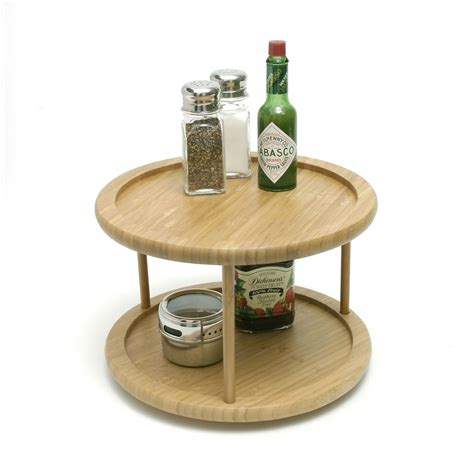 lipper   bamboo  tiered lazy susan tabletop lazy susans  hayneedle