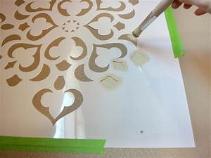 how to stencil a focal wall hgtv With paint templates for walls