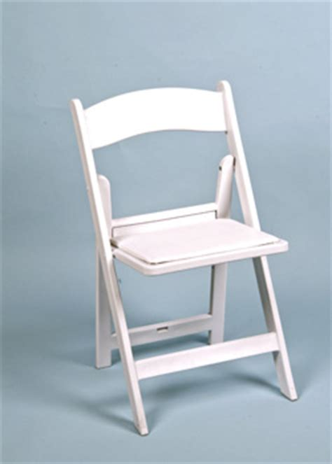 folding chair all occasion with cushion white resin