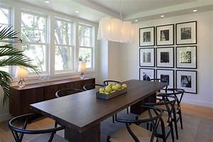 Display Photos Dining Room Transitional With Lighting