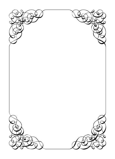 Free Border Templates by Free Vintage Clip Images Calligraphic Frames And Borders